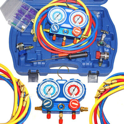 £59.99 • Buy Air Conditioning Manifold Gauge Set R22 R134a R410a Refrigeration Charging