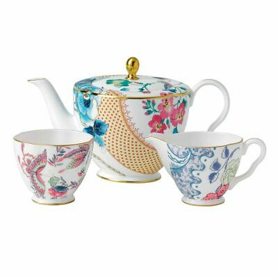 £140.40 • Buy Wedgwood - Butterfly Bloom - Teapot, Sugar And Cream Set - 232575G