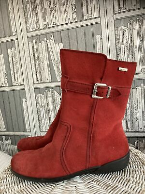 £15 • Buy Rohde Sympatex Red Suede Leather Calf High Flat Boots Size 4.5. MR11322