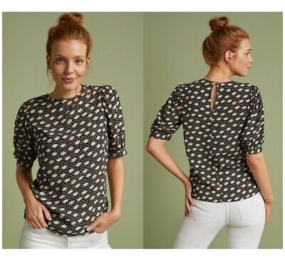 £7.99 • Buy Womens NEXT Blouse Ladies Tunic Shell Top SPOT DITSY Print Work Shirt Party Size