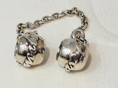 AU39 • Buy Authentic Pandora Sterling Silver Family Forever Safety Chain Charm 791788