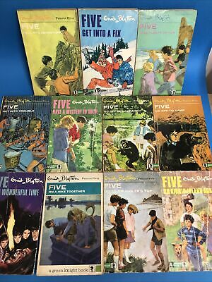 £22 • Buy Enid Blyton THE FAMOUS FIVE Set 11 X Vintage 1960's 1970's Books Green Knight