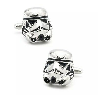 £3.99 • Buy Star Wars Storm Trooper Retro Novelty 3D Cufflinks New Fathers Day Gift Free UK
