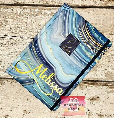 £9 • Buy PERSONALISED A5 2021/2022 Academic Diary Week To View TURQUOISE MARBLE