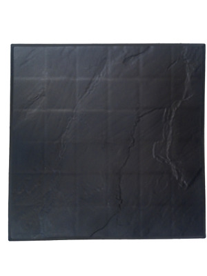£35.99 • Buy Black Garden Stepping Stone Recycled Rubber Tile 30 X 30 Flags Stomp Paving