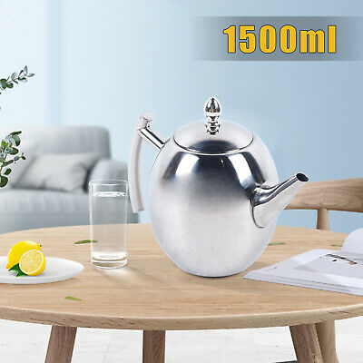 £12.82 • Buy 201 Stainless Steel Metal Teapot Tea Coffee Cafe Drink Kitchen Catering