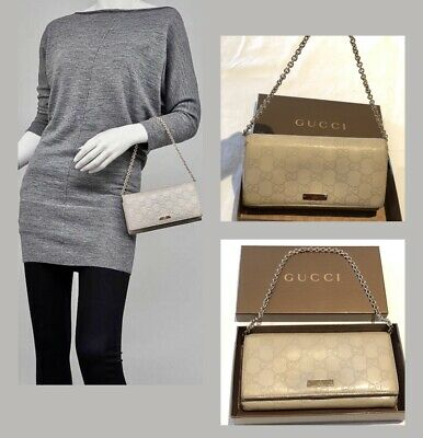 AU299 • Buy Authentic GUCCI Taupe Guccissima Leather Wallet-Clutch Bag