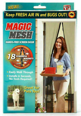 £5.95 • Buy Magic Curtain Door Mesh Magnetic Fastening Hands Free Fly Bug Insect Screen UK