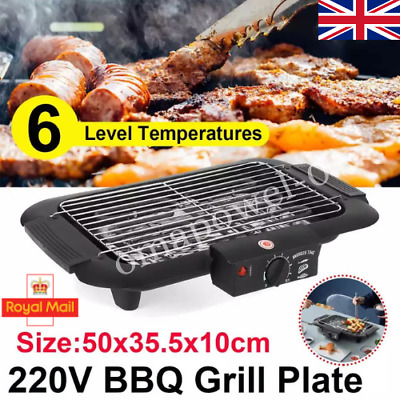 £27.89 • Buy Portable Smokeless BBQ Grill Indoor Non Stick Barbecue Electric Table Top Grill