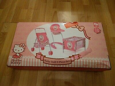 £32.32 • Buy Hello Kitty Baby Doll 3 Piece Stroller/Cot/ Highchair + FAST & FREE UK 🇬🇧 POST