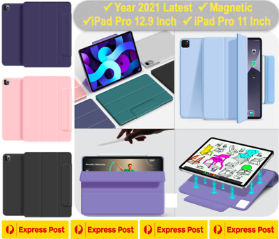 AU24.99 • Buy Year 2021 Magnetic IPad Pro 12.9 Inch Pro 11 Inch Smart Cover Pencil Holder Case