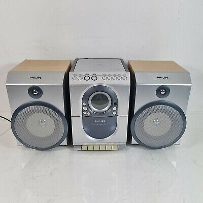 £26.99 • Buy Philips Micro HiFi System MC150/25 CD Cassette Radio Player Without Remote