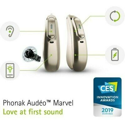 $ CDN1457.46 • Buy 1*Phonak Audeo Marvel M 70 R- Rechargable RIC Hearing Aid-Mild To Severe+Charger