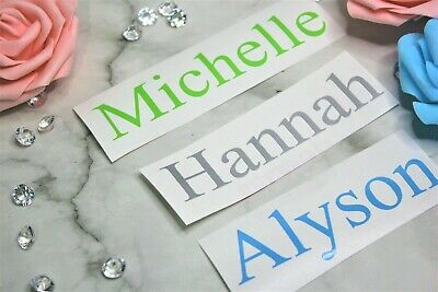 £1.39 • Buy Personalised Name Stickers Vinyl Word Label Decal Water Bottle Gin Wine Glass I
