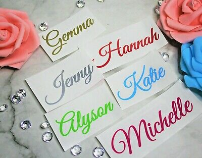 £1.99 • Buy Personalised Name Stickers Vinyl Word Label Decal Water Bottle Gin Wine Glass J