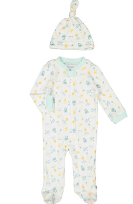 £13 • Buy Kyle & Deena Baby Girl/Boys Green Vegetable All In One Set With Hat 3-6 & 6-9 Mt