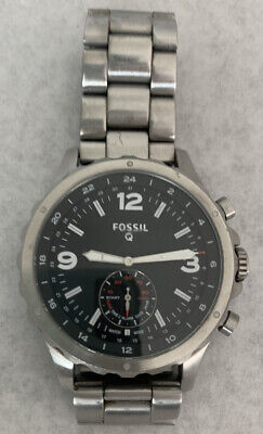 $22.49 • Buy Fossil Q NDW24 Mens Watch BROKEN For Parts Only