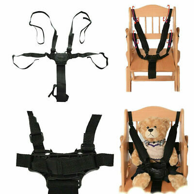 £4.63 • Buy 5 Point Safety Harness Stroller Baby High Chairs Pram Buggy Cars Belt Strap Kids