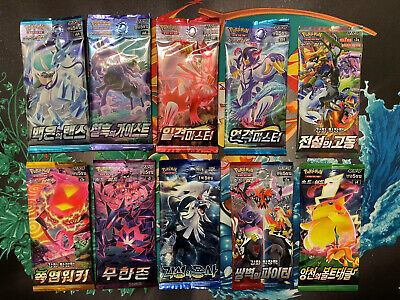 $27 • Buy Pokemon Korean Booster Packs. Lot Of 10 From Booster Box. All Unique Sets