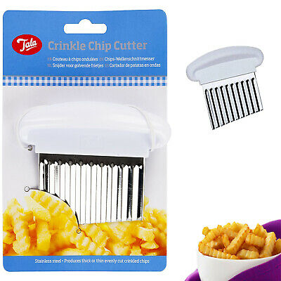 £5.35 • Buy Crinkle Chips Cutter Tala Stainless Steel Potato Blade Kitchen Tool