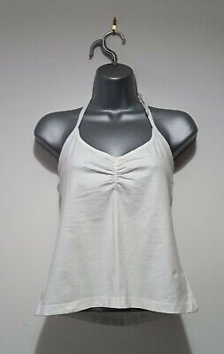 £6 • Buy Evie Clothing White Tie Halter Neck Cropped Vest Shirt Top M