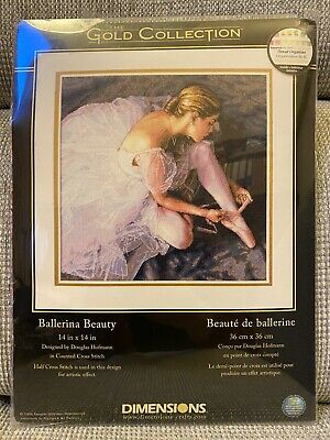£45 • Buy Dimensions Gold Collection Ballerina Beauty Counted Cross Stitch Kit-14 X14