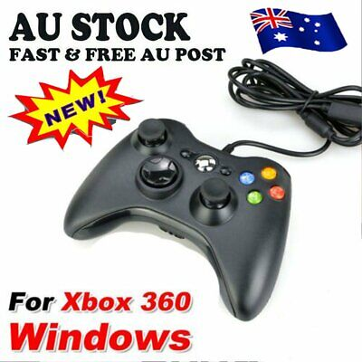 AU22.83 • Buy New Black Wired Controller For Xbox 360 Console USB Windows/PC AU