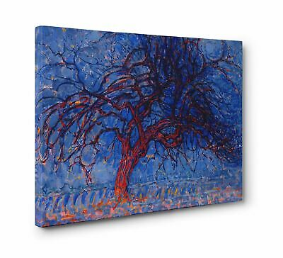£29.99 • Buy Piet Mondrian Red Tree Abstract Box Canvas Print Wall Art - Choice Of Sizes
