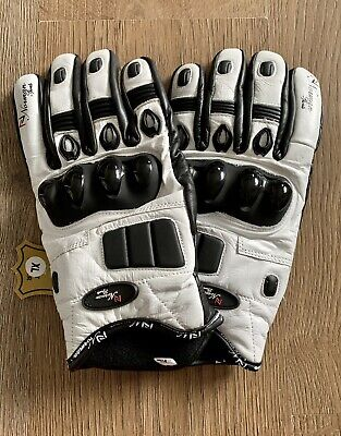 £29.99 • Buy Norman Sports White Genuine Leather Motorcycle Motorbike Scooter Gloves Size XL
