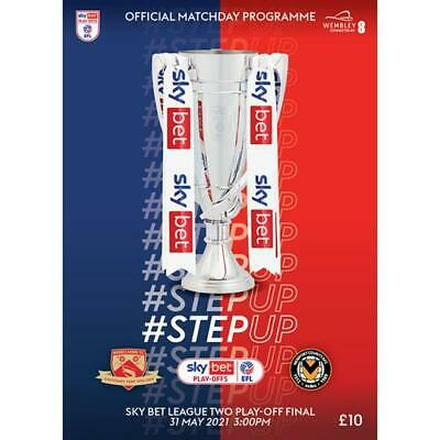 £8.45 • Buy  MORECAMBE V NEWPORT 31st MAY 2021  OFFICIAL PLAY OFF FINAL  PROGRAMME