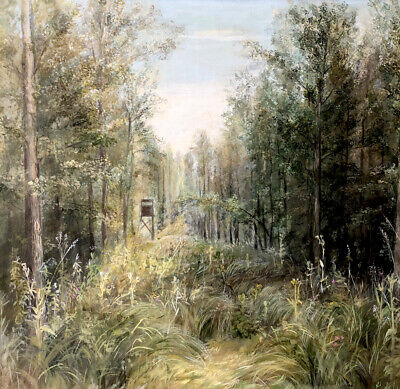 £159.86 • Buy Original Oil Painting Forest With Hunting Perch - Dickicht Signed Wolff