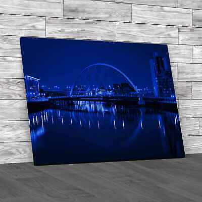 £12.95 • Buy Glasgow Waterside Blue Canvas Print Large Picture Wall Art