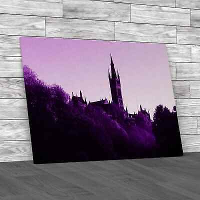 £12.95 • Buy Glasgow Universityin The Morning Purple Canvas Print Large Picture Wall Art