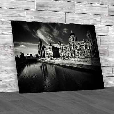 £12.95 • Buy The Three Graces Of Liverpool Black White Canvas Print Large Picture Wall Art