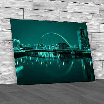 £23.95 • Buy Glasgow Waterside Teal Canvas Print Large Picture Wall Art