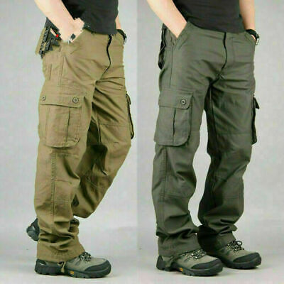 £19.99 • Buy Men's Tactical Cargo Army Work Trousers Combat Outdoor 6 Pockets Plus Size UK