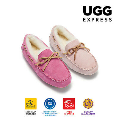 AU35 • Buy 【EXTRA20%OFF】UGG Moccasins Women Slippers Ladies Moccasin Wool Lining