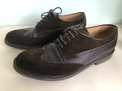 £39.99 • Buy Charles Tyrwhitt Brown Suede Leather Brogue Shoes  Good Year Welted UK 11 G