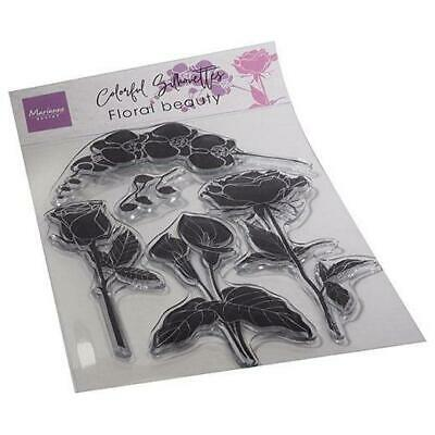 £7.99 • Buy Marianne Design Clear Stamps Colourful Silhouettes - Floral Beauty CS1083