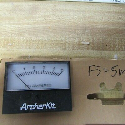 $5 • Buy METER Panel 5 MA  DC 0-5A Scale 3 X 2.25 Inch HAM RADIO