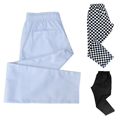 £16.99 • Buy Chef Pants / Chefs Trousers Uniforms Trouser  White - Black - Harlequin - Chess