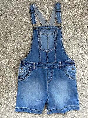 £14.99 • Buy FAT FACE Denim Dungarees Shorts Light Wash Blue Age 12-13 Years