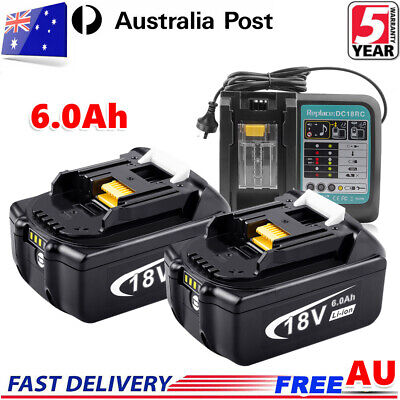 AU39.99 • Buy 18V 6.0AH LXT Battery Or Charger For Makita BL1830 BL1840 BL1850 Cordless Tools