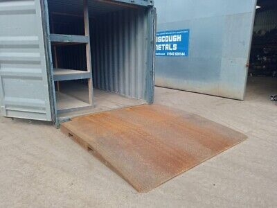 £1074 • Buy Steel Chequer Tread Container Loading Ramp 2530mm Long X 2510mm Wide - Used