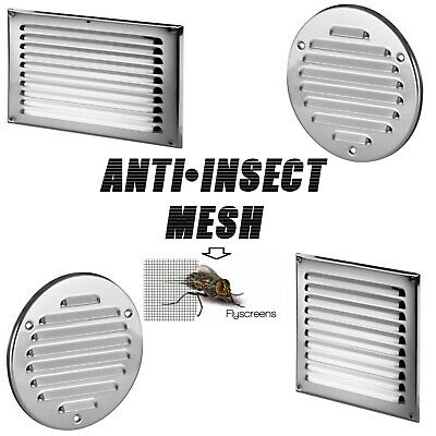 £5.99 • Buy Stainless Steel Air Vent Grille With Fly Screen Flat Ventilation Duct Cover