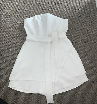 £5 • Buy Womans White Missguided Bandeau Playsuit UK 12