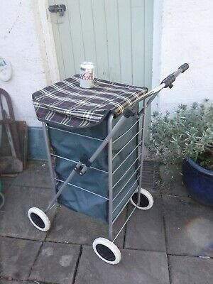£15 • Buy Barely Used Height Adjustable 4 Wheel Push Along Shopping Trolley - Collect BA14