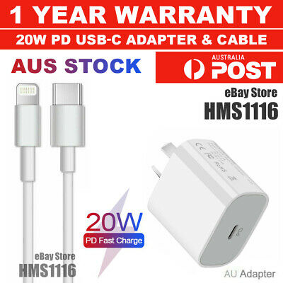 AU19.95 • Buy For IPhone 12 11 Pro Max Wall Charger 20W PD Fast Adapter Plug IPad USB-C Type-C