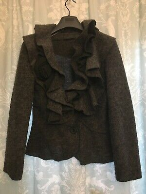 £19.99 • Buy Women's Romeo Giulia  Boiled  Wool Cardigan  Jacket Size M  Grey Made In Italy
