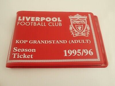 £12.89 • Buy Season Ticket Wallet 1995/96 Liverpool Football Club With Some Unused Tickets